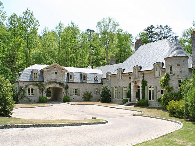 French style mansion in stone