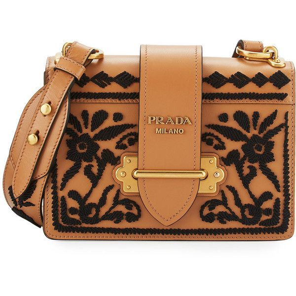 Prada Cahier Small Leather Trunk Crossbody Bag