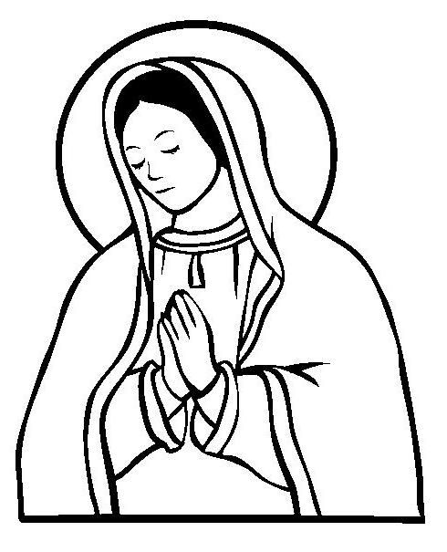 virgin maria colouring pages