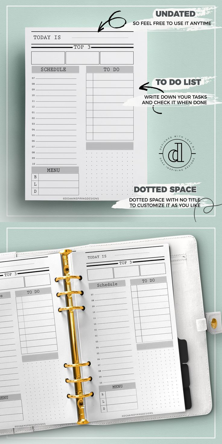 Do1p A6 Planner Printables Daily Sheet For A6 Planners Daily Dailyplanner A6 Timema Daily Planner Pages Planner Inserts Printable Life Planner Printables