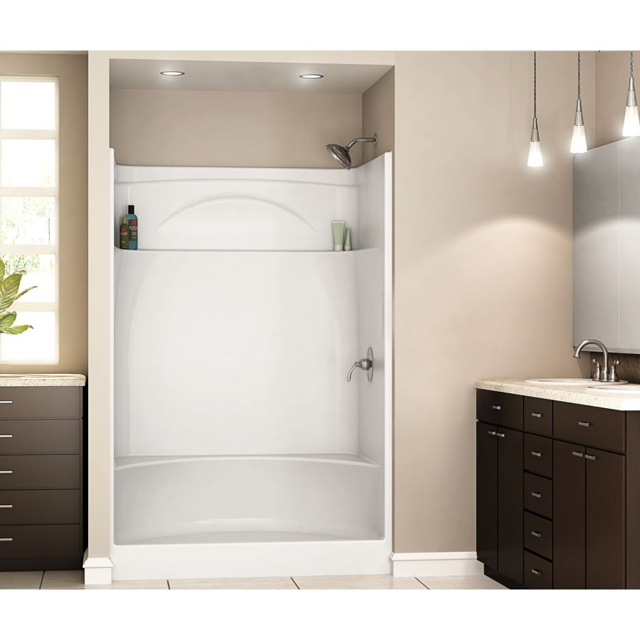 Shop DELTA White Acrylic One-Piece Shower With Integrated