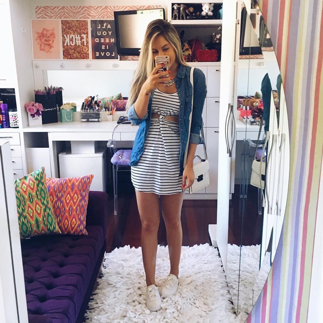 """Joana Barth Paladini no Instagram: """"Dress + jeans + ❤️❤️❤️"""""""