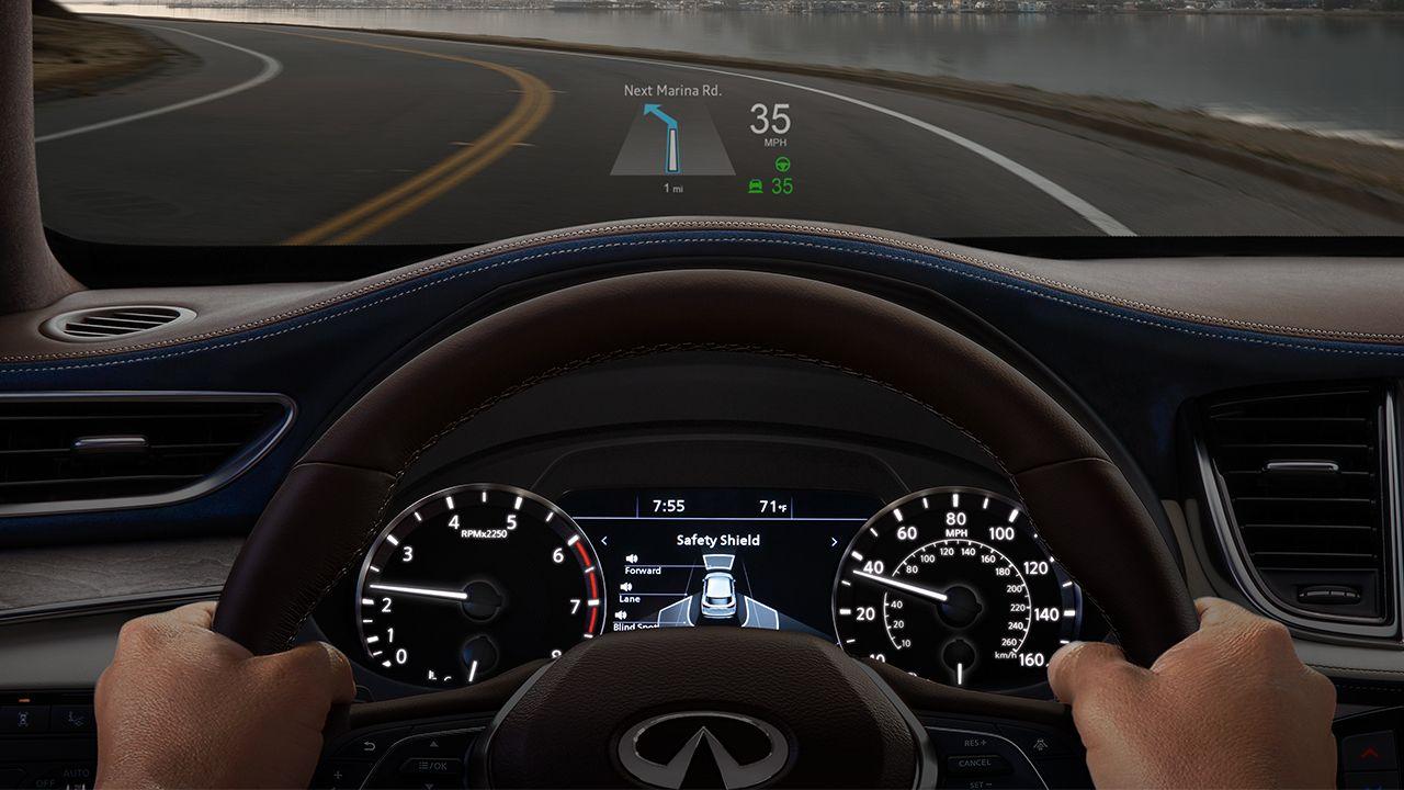 2019 Infiniti Qx50 Infiniti Luxury Crossover Head Up Display Infiniti Luxury Crossovers Infiniti Usa