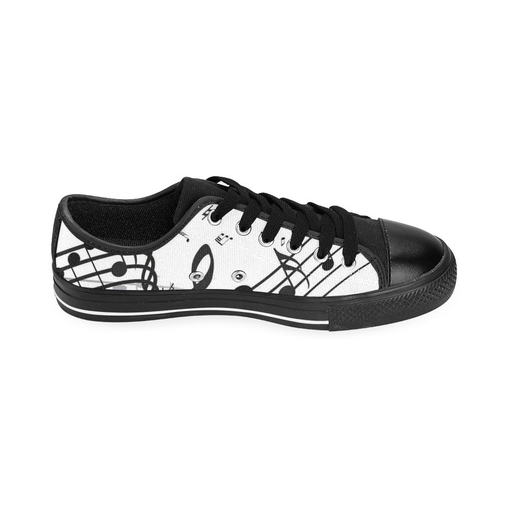 Music Men's Classic Canvas Shoes/Large Size (Model 018)