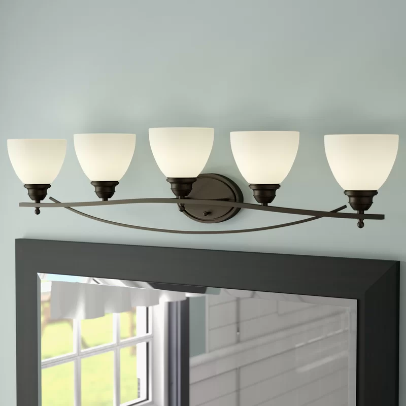 Charlton Home Maeystown 5Light Dimmable Oil Rubbed Bronze