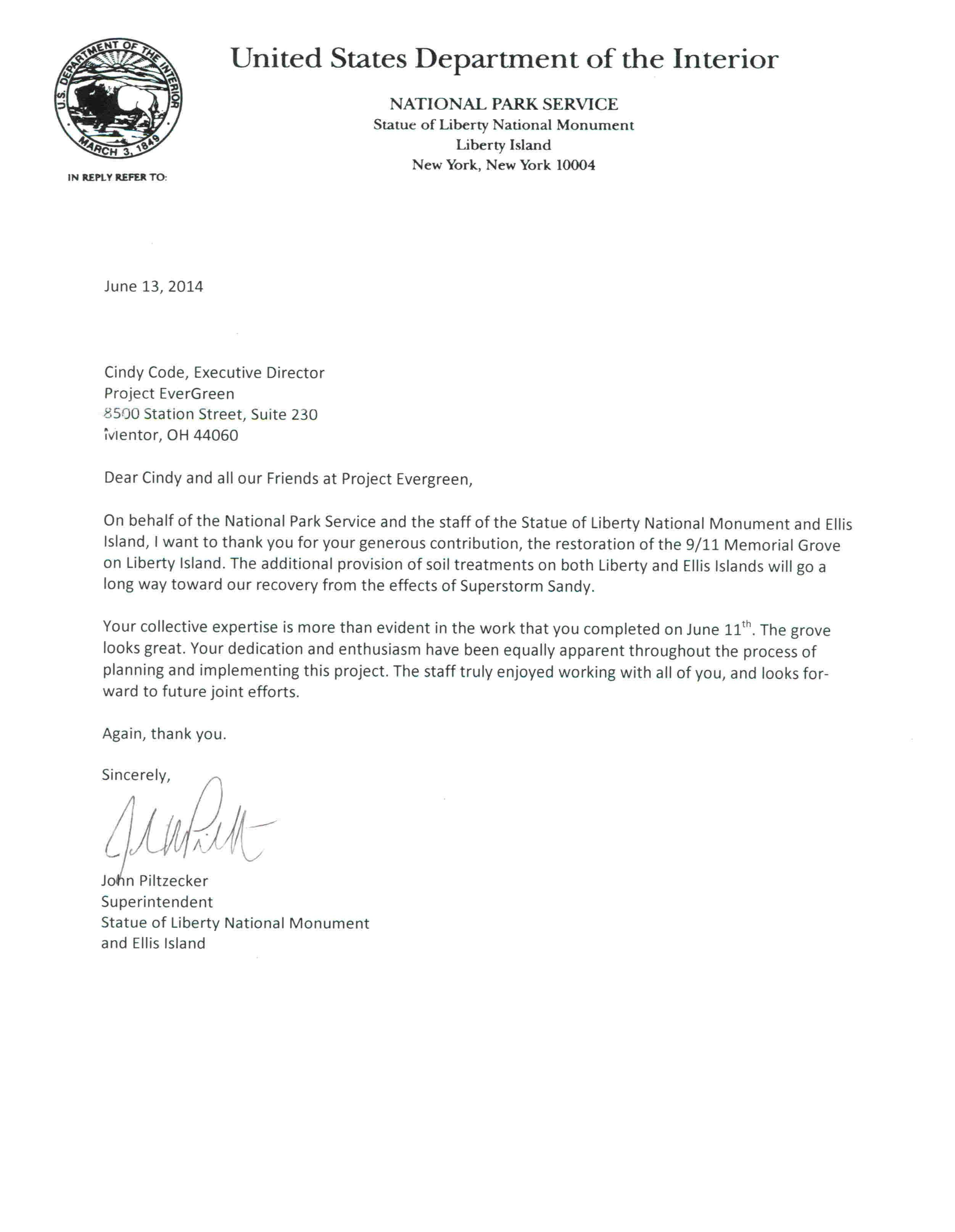 Sample Letter For Community Service Hours Best Of Liberty Island