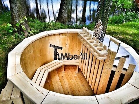Vasca Da Esterno Riscaldata : Legno vasca idromassaggio modello di base timberin hot tub