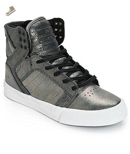 8f304fafe826 Supra Womens Skytop Pewter Metallic White 5 - Supra sneakers for women  ( Amazon Partner-Link)
