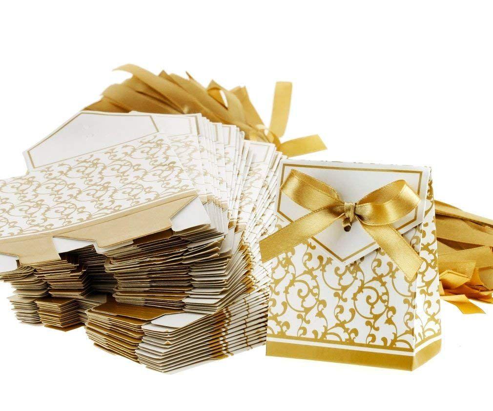 100 Tlg Gäste Kartonage Hochzeit Party Geschenkbox