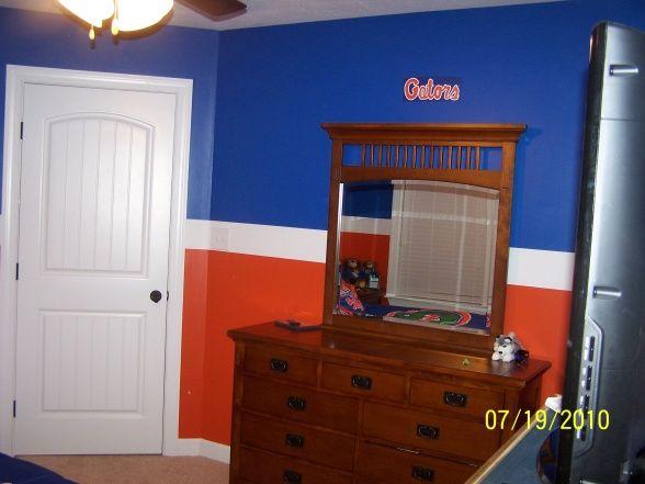 Florida Gators Room, Blue and orange Florida Gators inspired ...