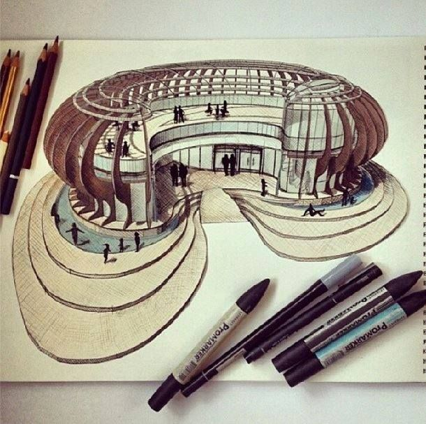 Architecture Drawing Hand pinjavier ratti on croquis & planos | pinterest