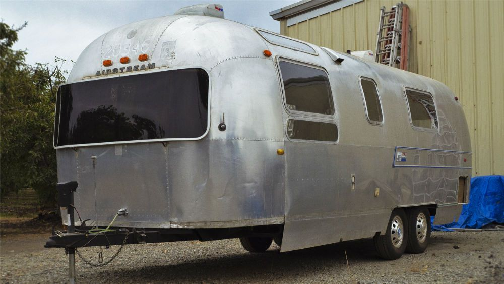 Gutted project 1970 Airstream Overlander 27 - California