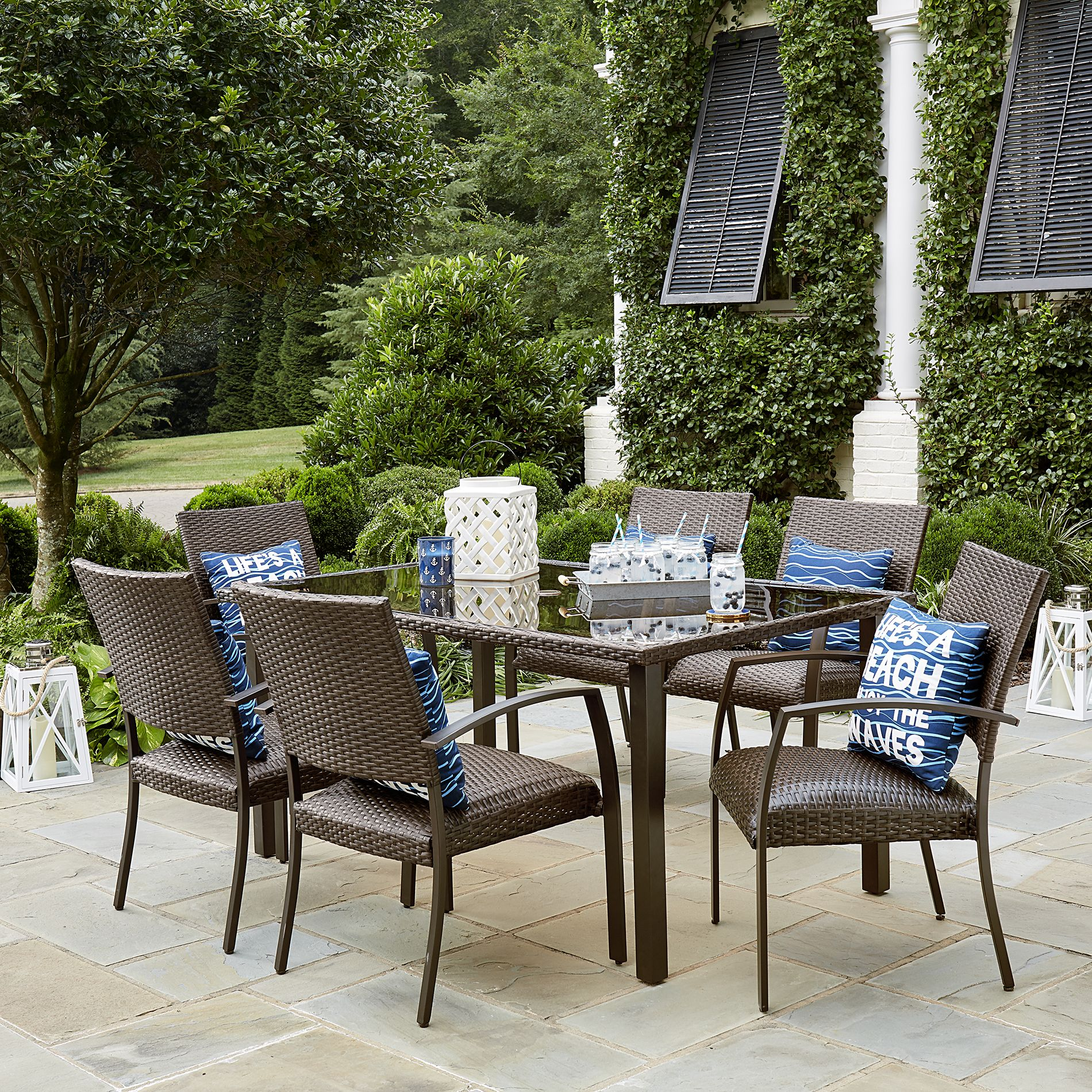 Sutton Rowe Williamsport 7 Piece Patio Dining Set  For A