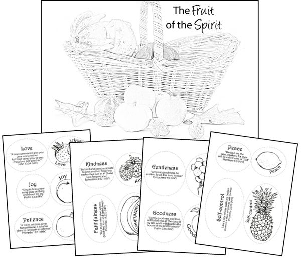 Free Fruit of the Spirit Printables: goes with