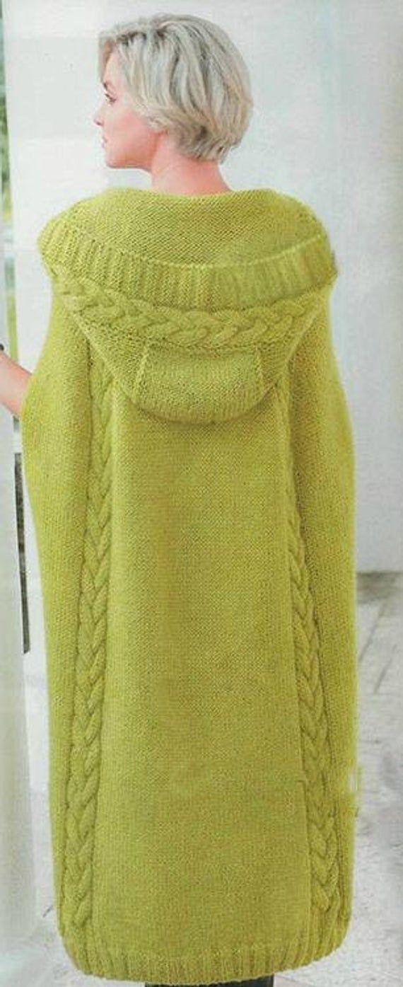 poncho  mantella con cappuccio cappotto abbigliamento image 3