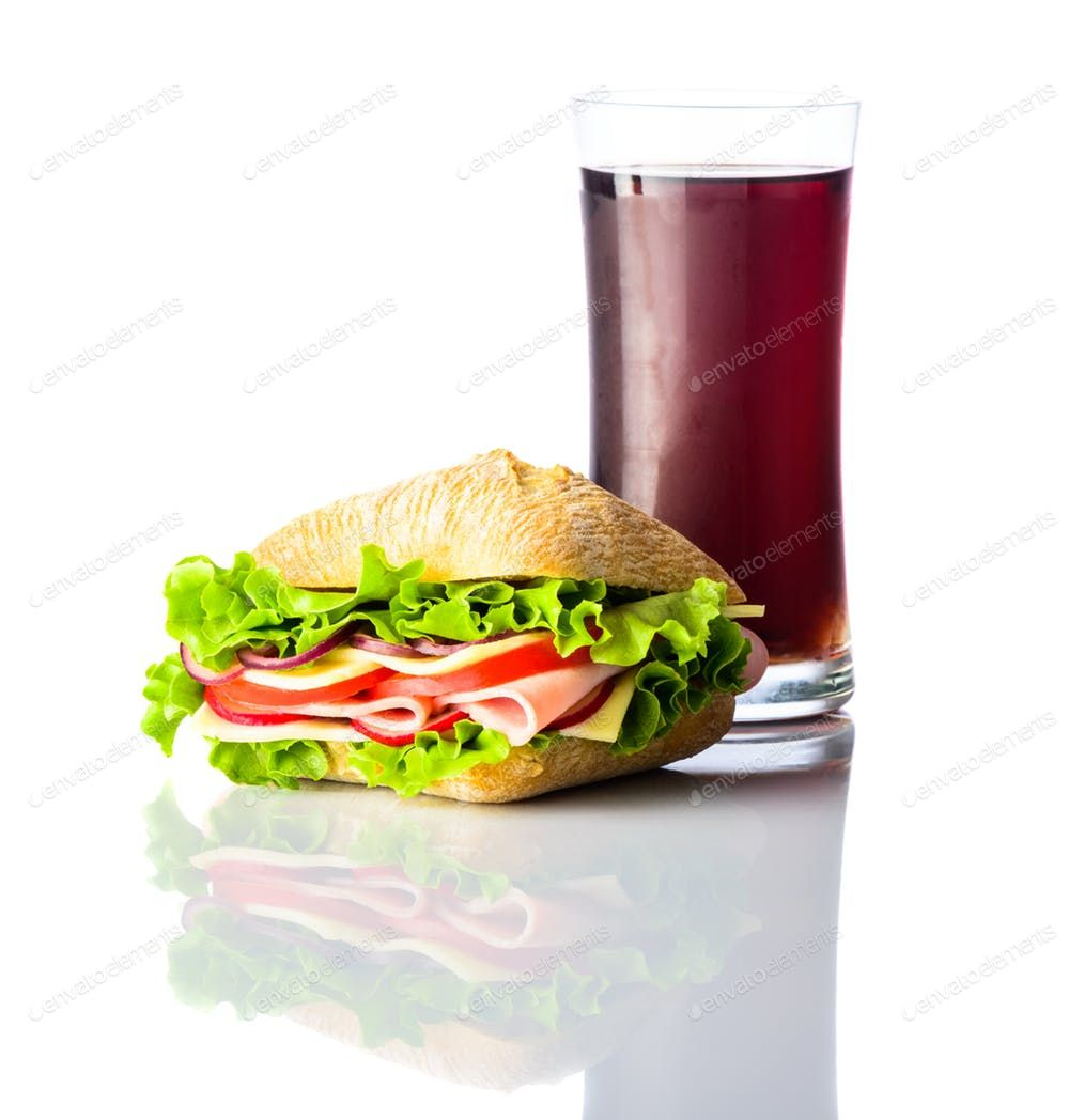 Cold Cola With Burger Sandwich On White Background Photo By Oizostudios On Envato Elements Burgers Sandwiches Burger Sandwiches