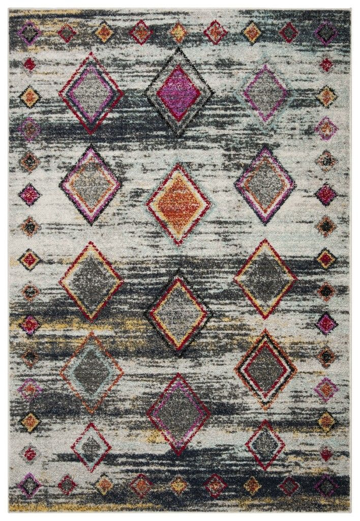 Adirondack Collection 6' X 9' Rug in Light Grey And Red - Safavieh ADR205F-6 #area51partyoutfit