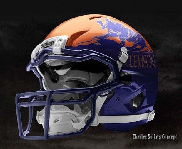 One Of Clemson S Concept Helmets Clemson Football Football Helmets Clemson Tigers Football