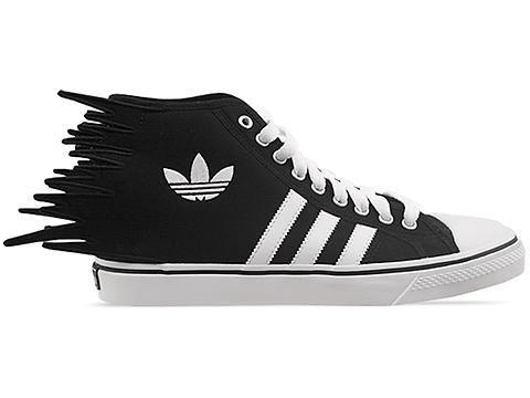 3d028e81f301 Adidas Originals X Jeremy Scott JS Nizza Jagged Mens in Black White Black  at Solestruck.com