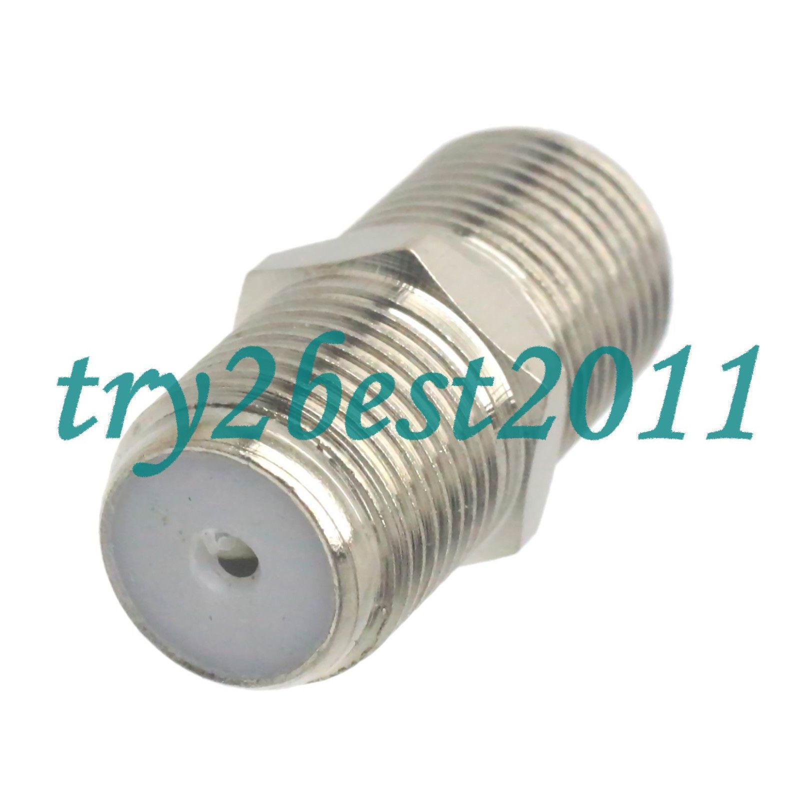 12 1pce Adapter Connector F Tv Jack Pin To F Tv Jack Pin Rf