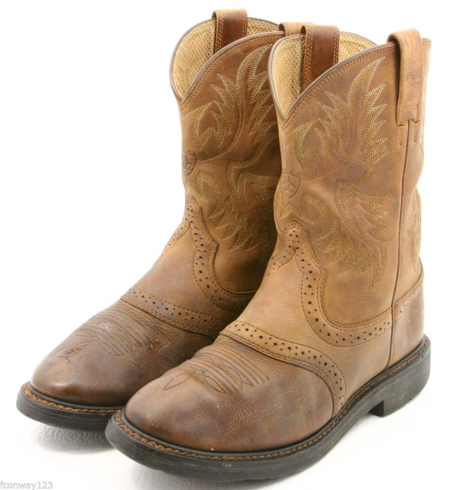 15ca6c154b1 Ariat Sierra Saddle Roper Cowboy Boots size 9.5 D Brown Leather ...
