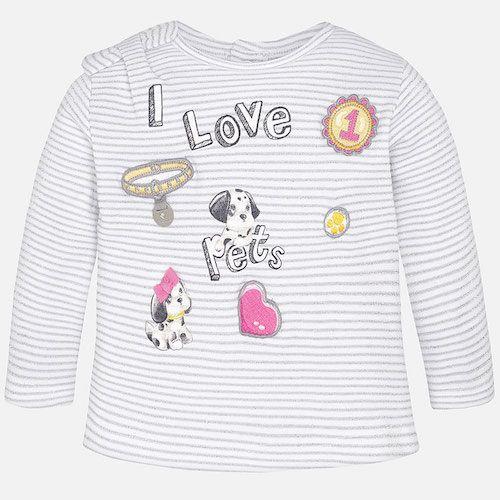 6bceb2681 Mayoral – Baby Girl Long Sleeve T-Shirt With Print | Mayoral ...