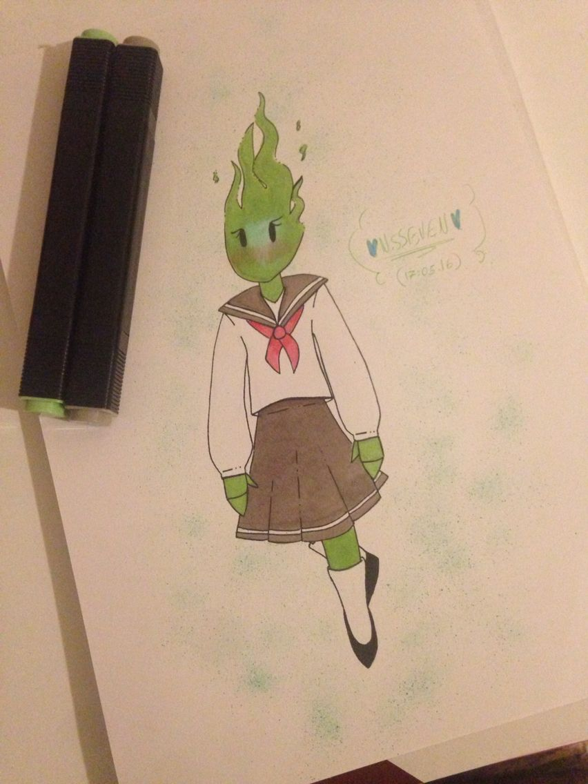 I draw fuku fire made by: @narjis2606 SONICBLUE/ NSSEVEN