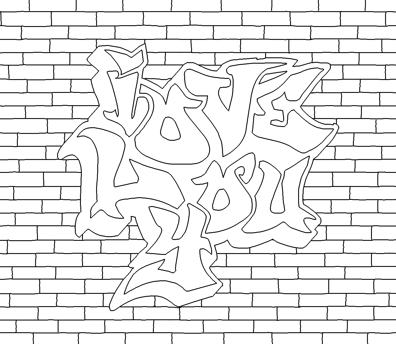Graffiti Word Coloring Pages