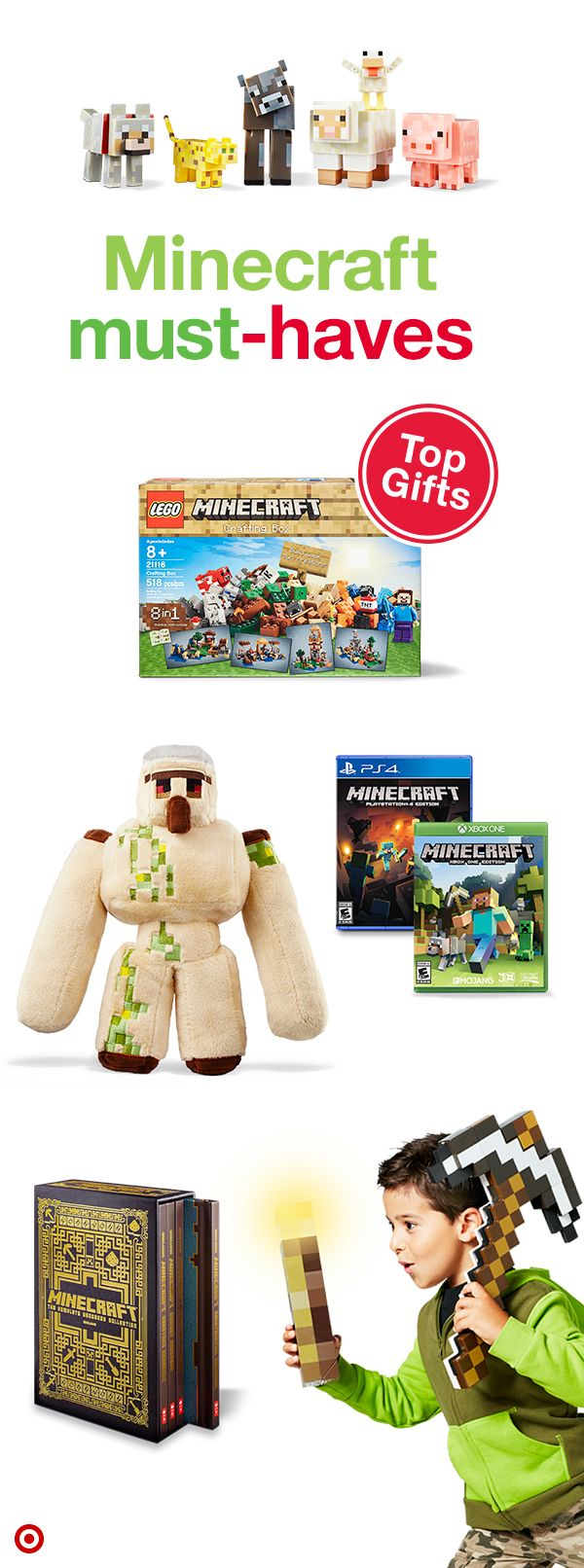Perfect for the builder on your Christmas list, Minecraft allows little gamers to imagine, build and explore a world of endless possibilities. Watch as they break and place blocks to create structures that help protect against nighttime monsters. Whether they play solo or with friends, they're in for a creative-fun time!
