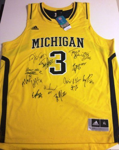 578a5eb5b75 2012 2013 Michigan Wolverines Team Autographed Basketball Jersey -  http   shop.