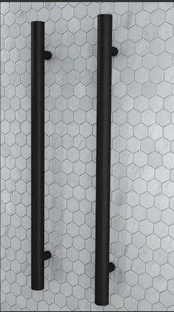uno round vertical heated towel rail matte black