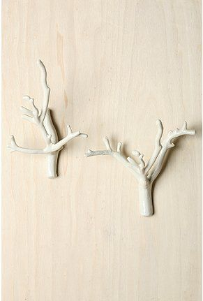 Branch hooks | Current Crushes | Pinterest | White branches, Coat ...