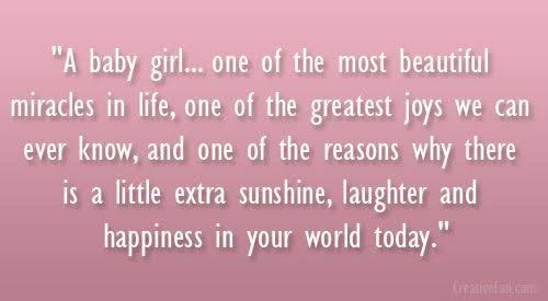 Pin by Noura Hassan on Congratulations | Baby girl quotes, Newborn