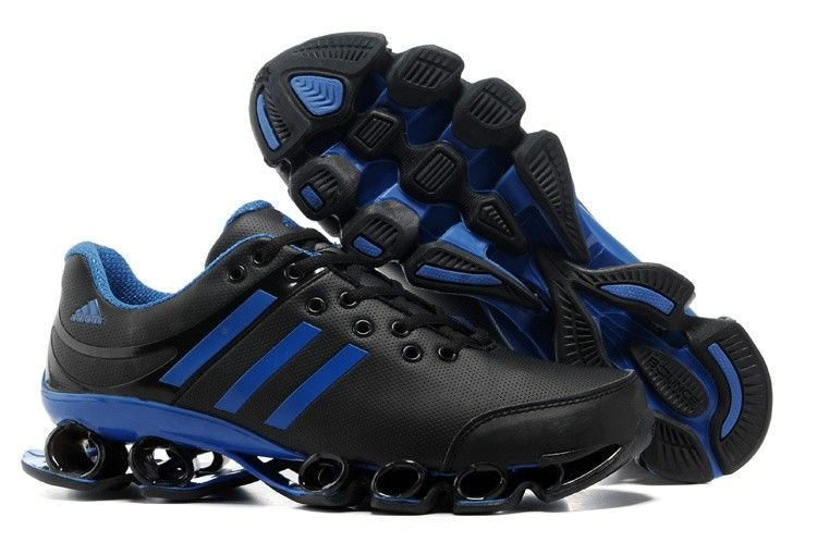 san francisco 69183 5d63e Adidas Bounce V2 Leather Mens Black Blue Athletic Running Shoes adidas  trainers Regular Price 185.00