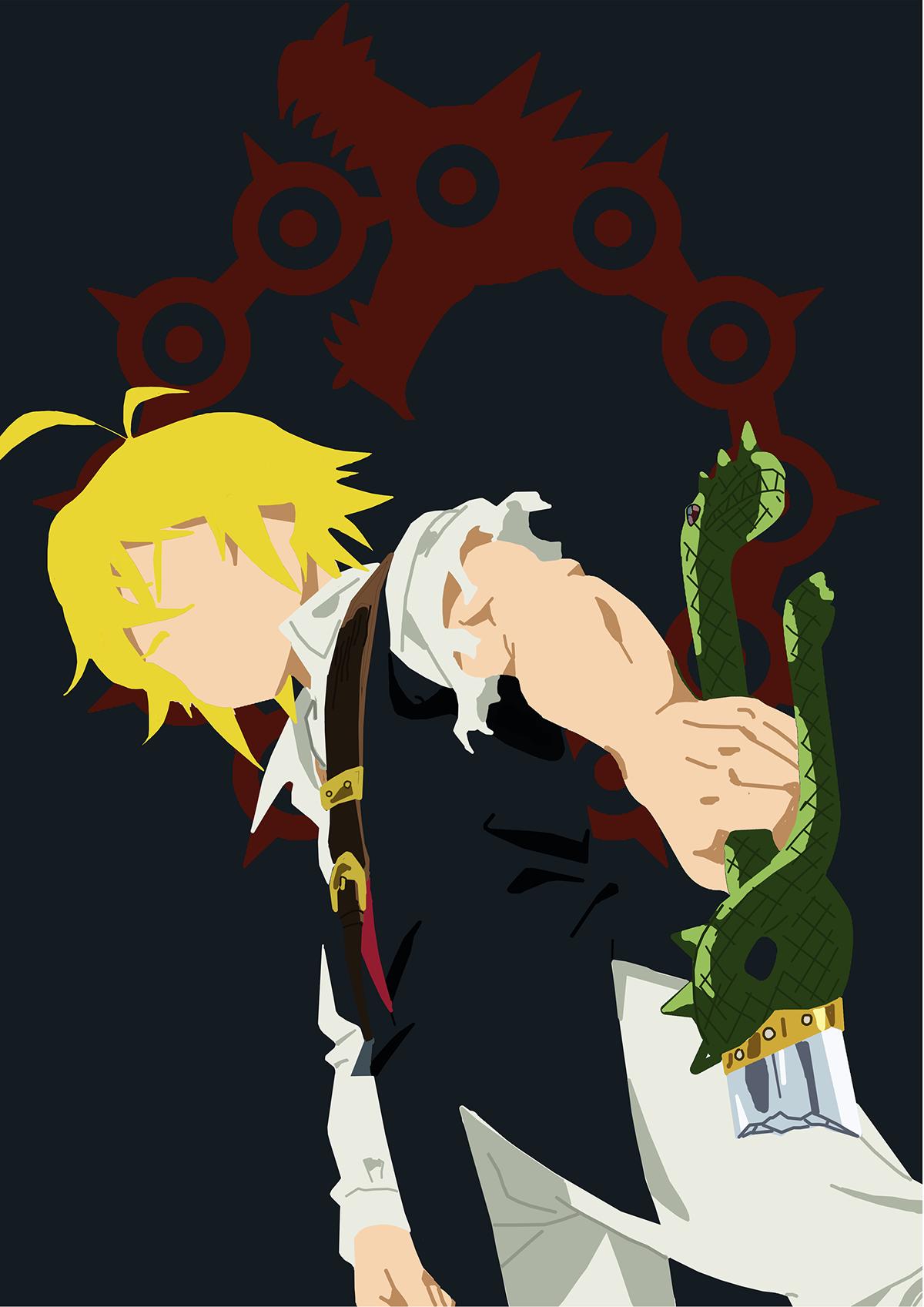 The Seven Deadly Sins On Behance Anime 7 Pecados Capitales Pecados Capitales Arte De Anime