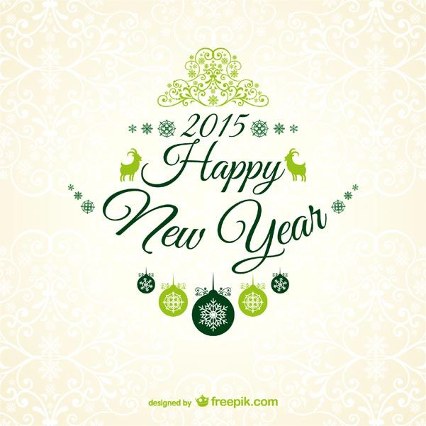 New year 2015 greetings card with floral ornaments ornament new year 2015 greetings card with floral ornaments m4hsunfo