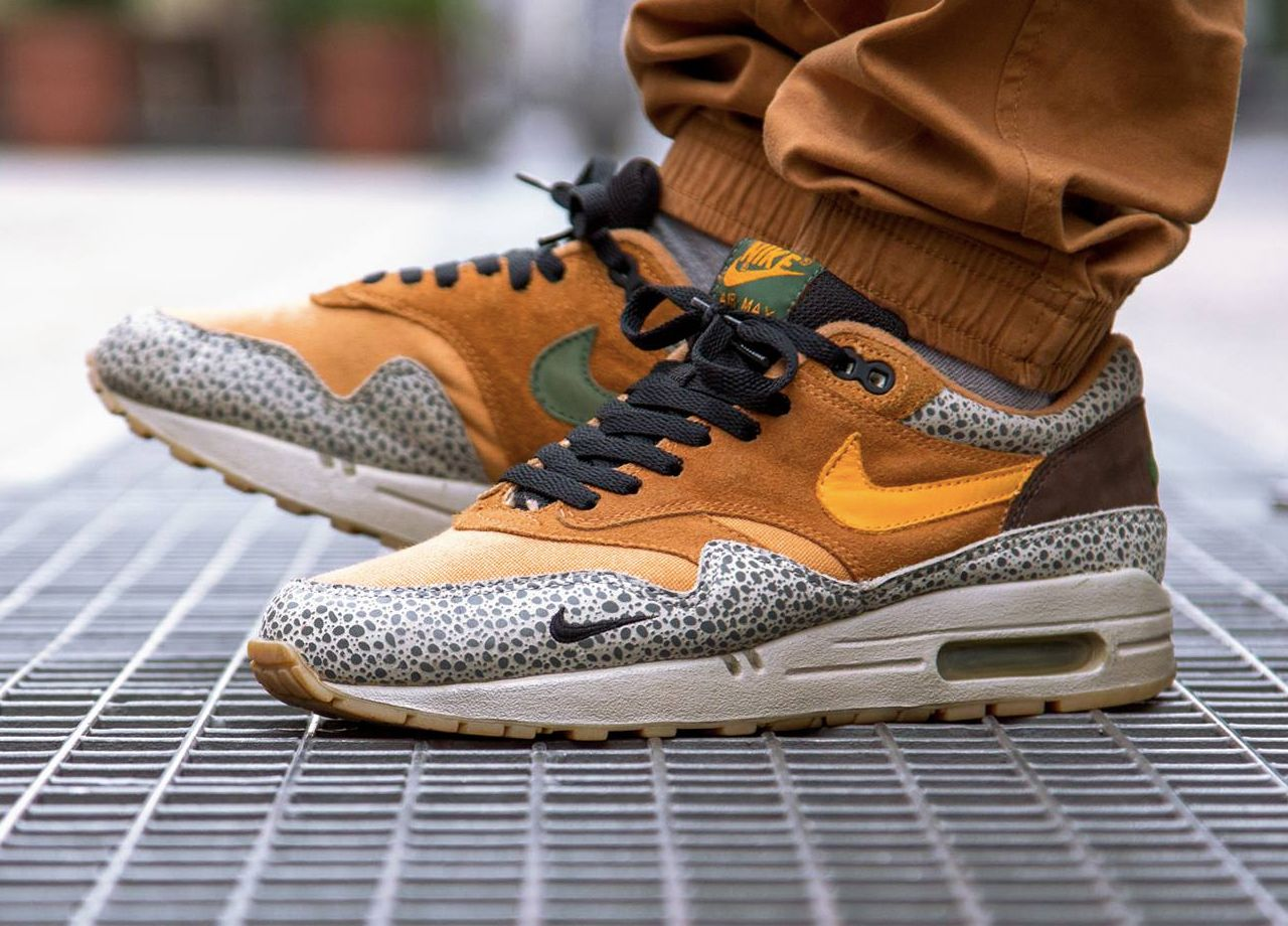 nike air max 1 curry on feet nz