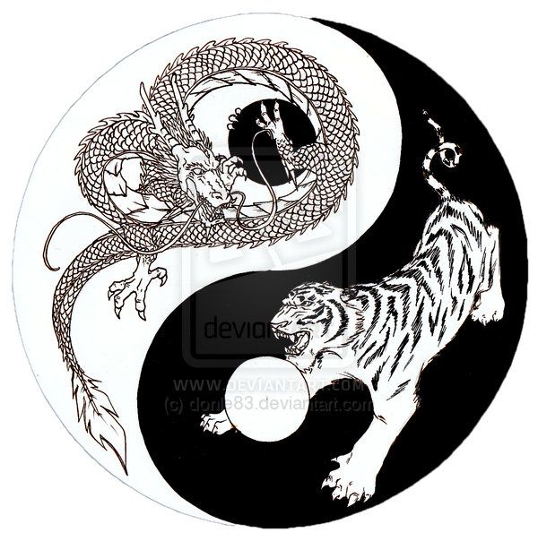 97ee4acbf Dragon Tiger Yin Yang sketch by donle83.deviantart.com on @deviantART