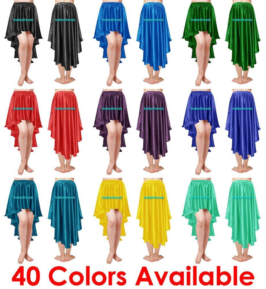 Chiffon High Low Maxi Asymmetric Skirt Flamenco Belly Dance Gypsy Ruffle Jupe