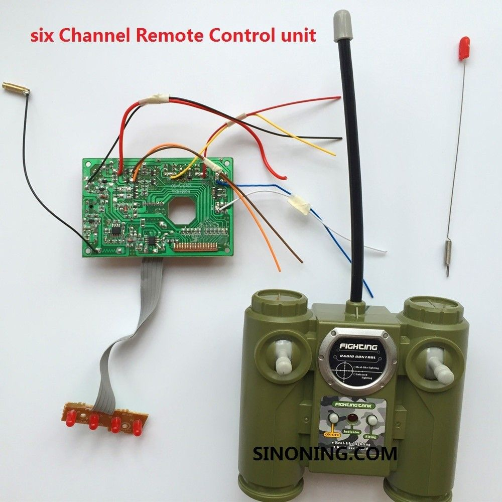 Six Channel Remote Control 40mhz 27mhz Radio Module Tiny Rc Cars Transmitter And Charger Circuit 2 X Aa Cell Unit Board Antenna Reception With Shell