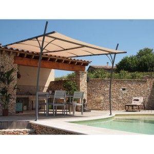 Tonnelle Adossee Toile Eva Architectural Collection Outdoor Pergola Garden