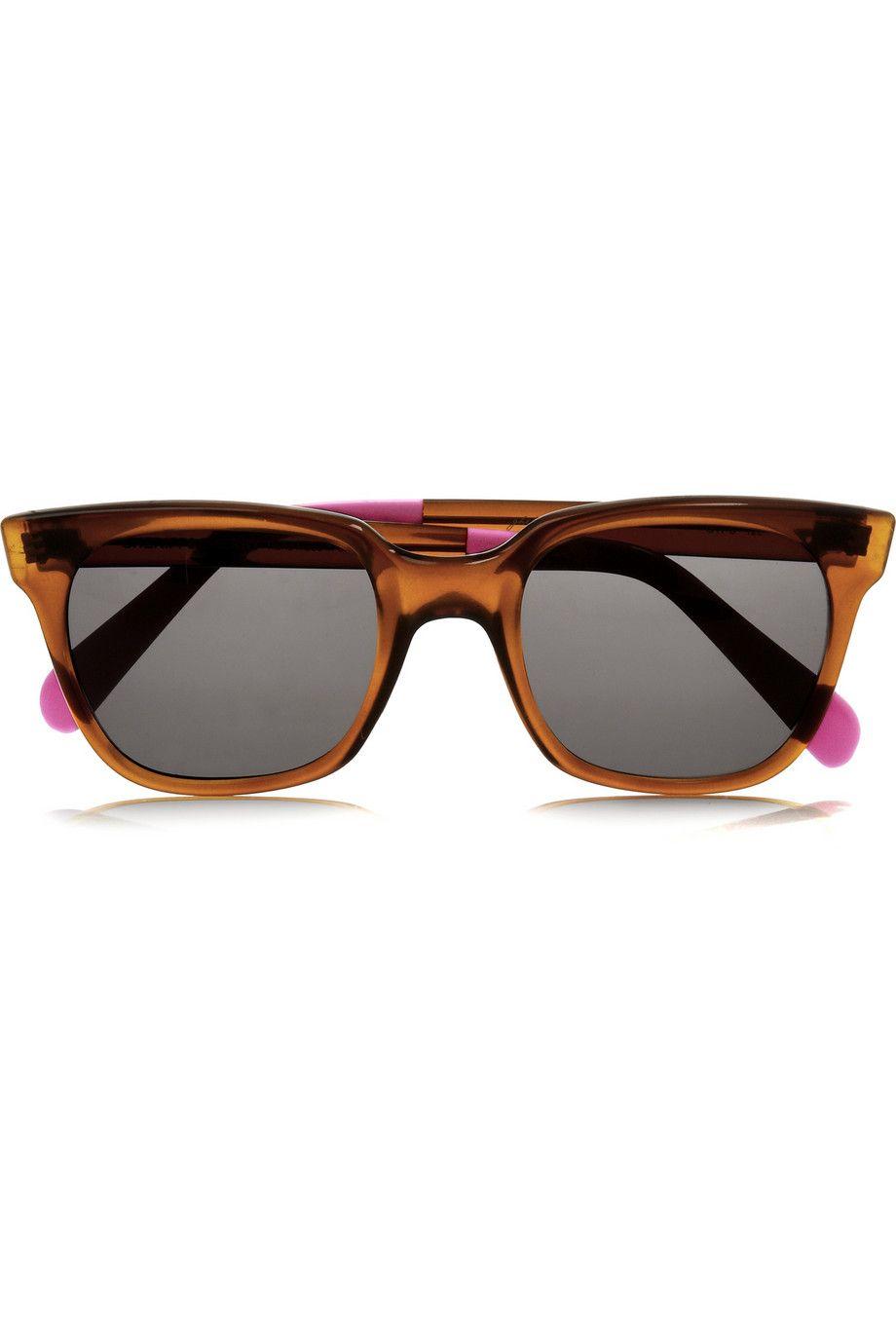 Sheriff | D-frame acetate sunglasses | NET-A-PORTER.COM | Glasses ...