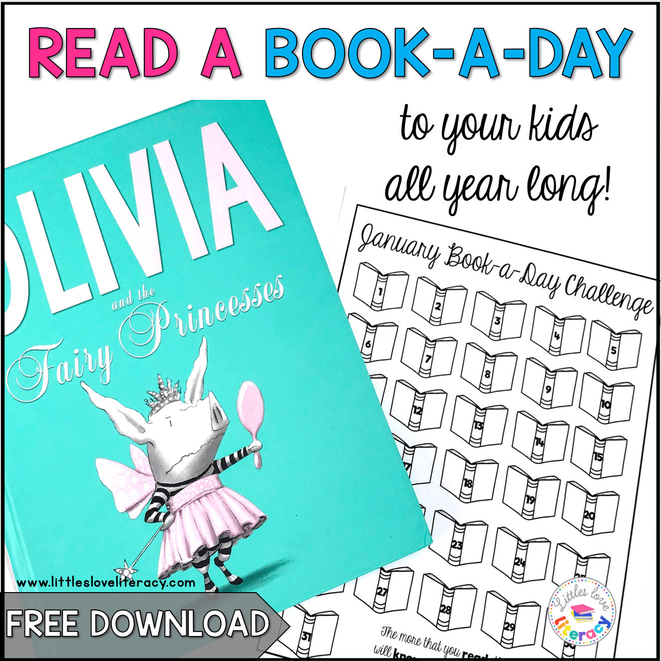 Free Book A Day Reading Challenge For Kids