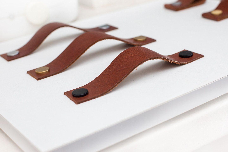 Leather Handle Cabinet Hardware | http://betdaffaires.com | Pinterest