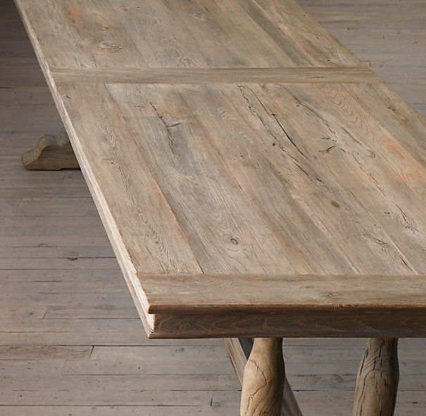 Farmhouse Style Table Makeover: Using Gray Tones, This Amazing Makeover Is  A Restoration Hardware Knockoff.