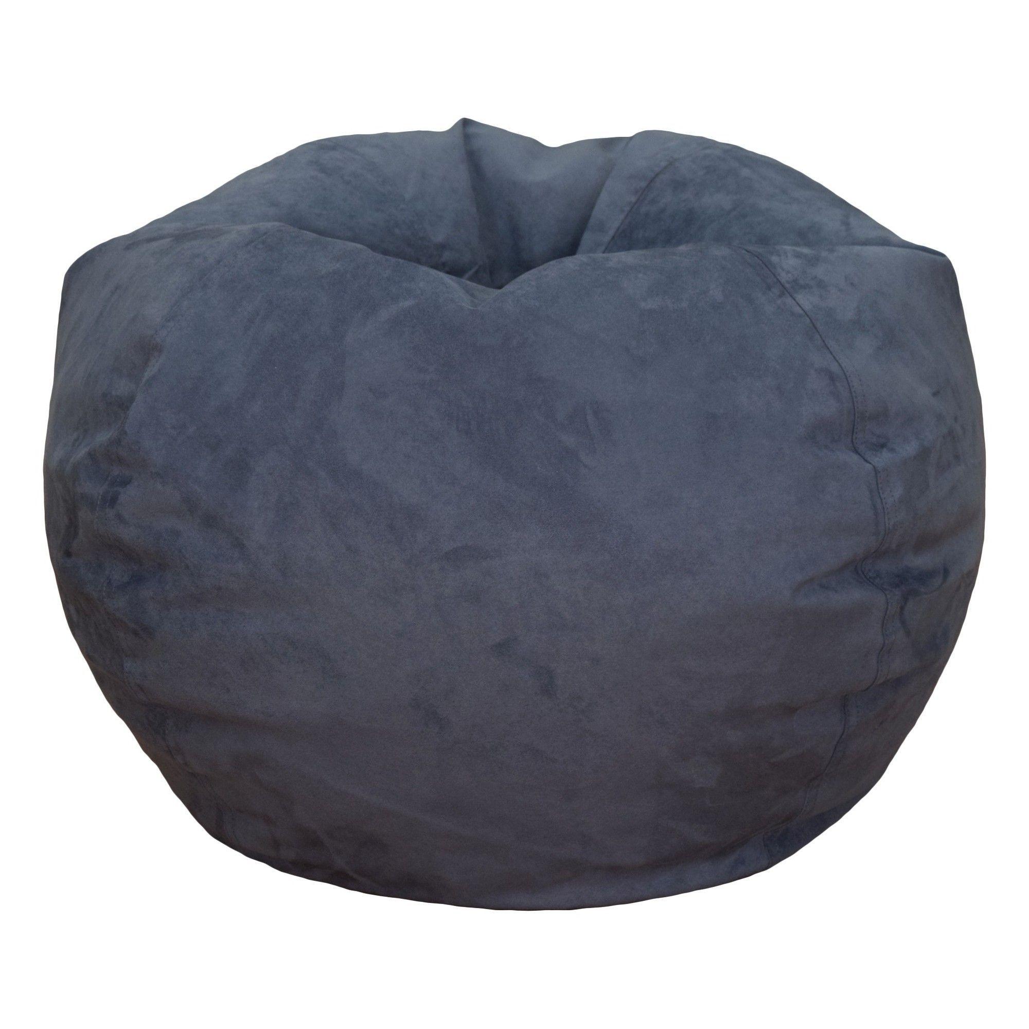 Bean Bag Chair Dark Blue Reservation Seating, Adult