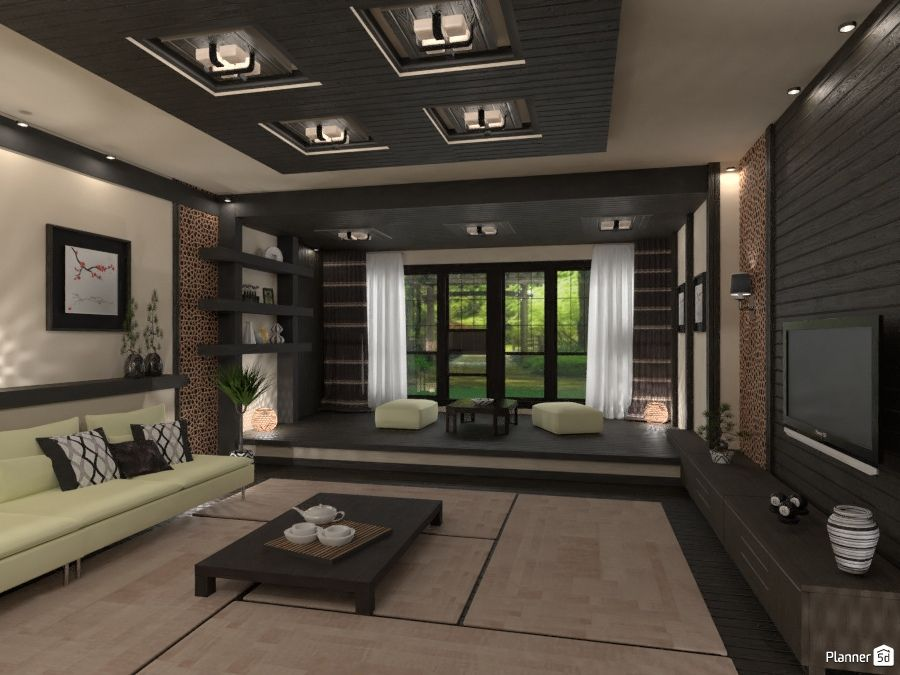 Japan Interior Japanese Interiors Dark Colors Interior Planner5d Japanese Apartment Home Design Software Japan Interior
