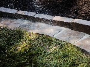 DIY Paver Edging That Makes Mowing a Breeze