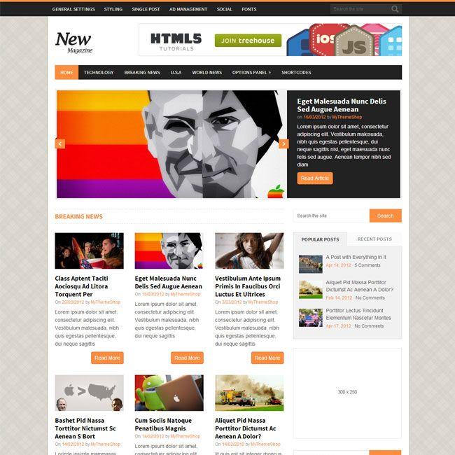 NewsMag Responsive Magazine WordPress Theme   WordPress Theme Download