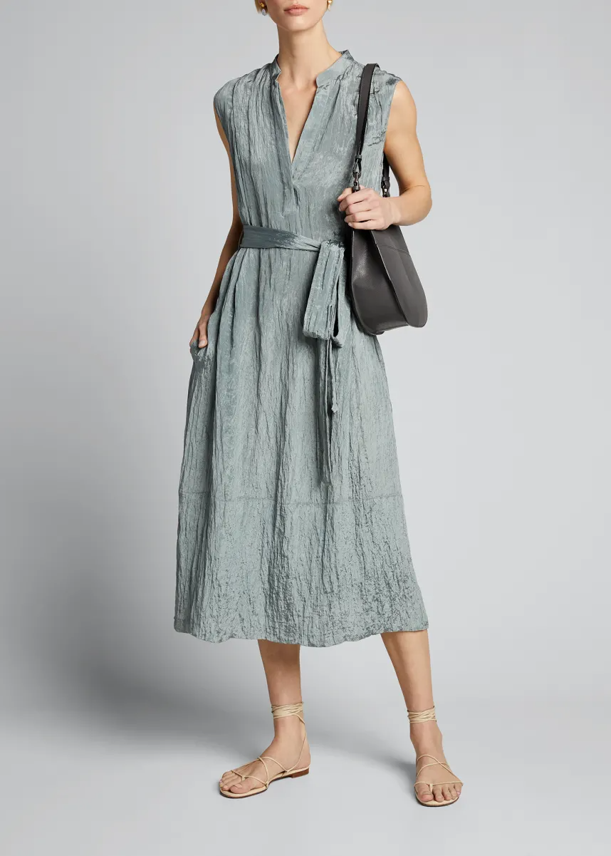 T0j7x Vince Sleeveless Textured Popover Dress In 2021 Elegant Cocktail Dress Dresses Top Design Fashion [ 1201 x 858 Pixel ]